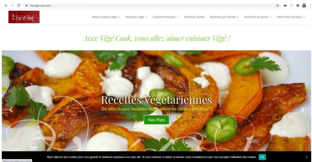 Consultant en communication Nantes et webmaster pour Végé Cook