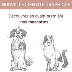 nouvelle identite graphique mascottes